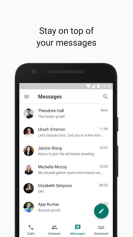 Google Voice 2018.50.224208644 Screen 2
