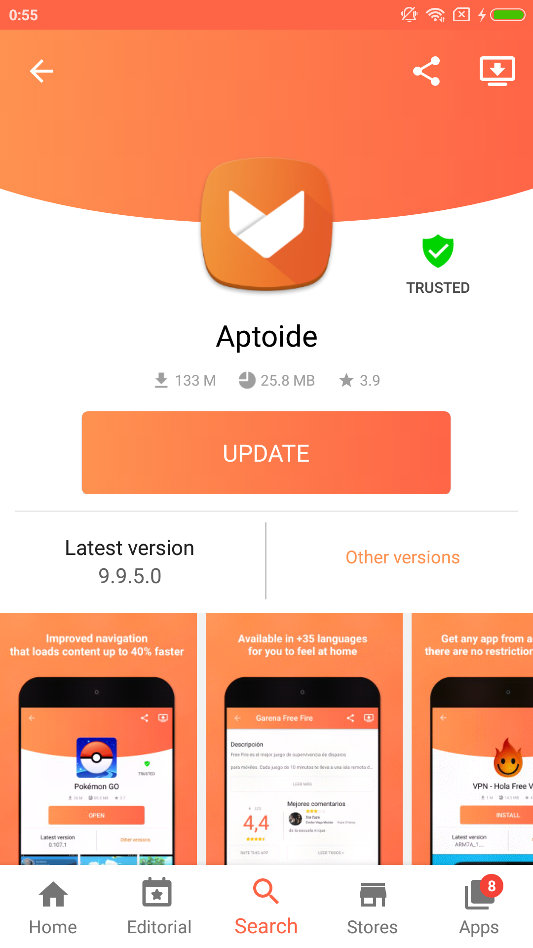 Aptoide Dev 9.9.6.1.20191002 Screen 6