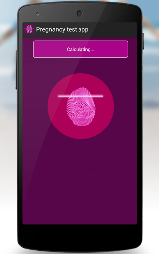 Android Pregnancy test app Screen 2