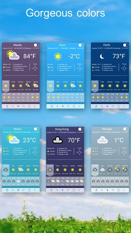 Android Weather 2 weeks Screen 1