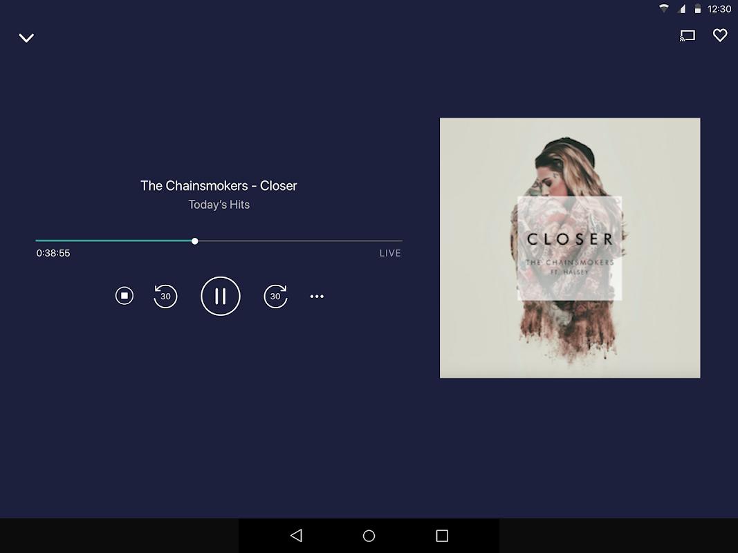 Android TuneIn Radio Screen 1