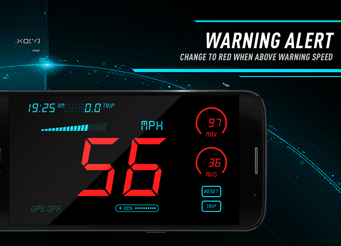 Android Hud Speedometer - Car Speed Limit App with GPS Screen 3