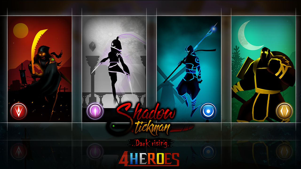 Android Shadow Stickman: Dark rising – Ninja warriors Screen 1