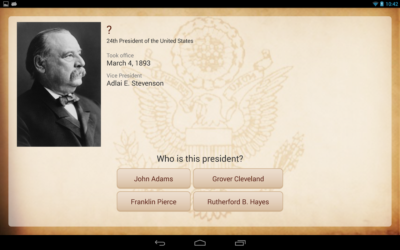 Android U.S. Presidents Screen 3