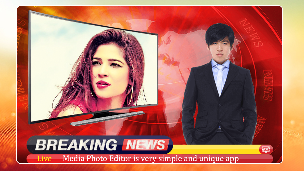 Android Breaking News Photo Frame Screen 1