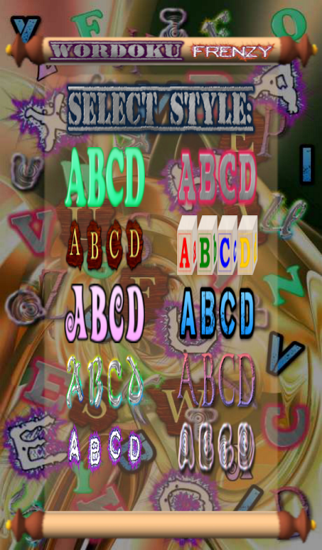 Android Wordoku Frenzy Puzzle Screen 4