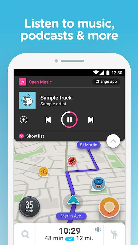 Waze - GPS, Maps, Traffic Alerts & Sat Nav 4.48.0.4 Screen 4