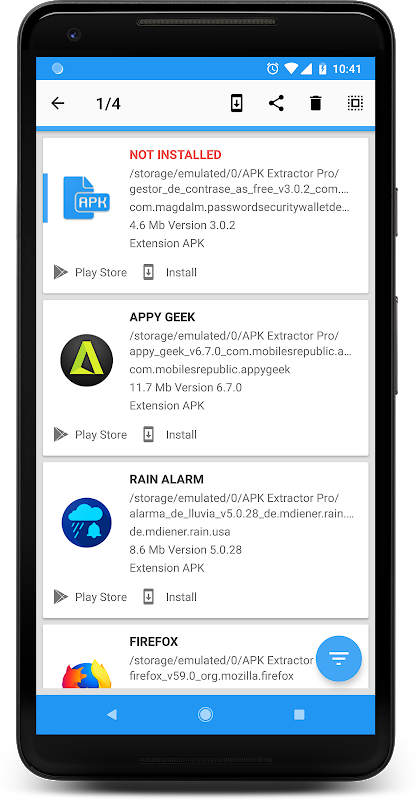 Android APK INSTALLER PRO Screen 1