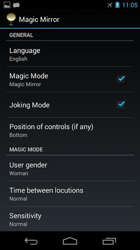 Android Magic Mirror Screen 1