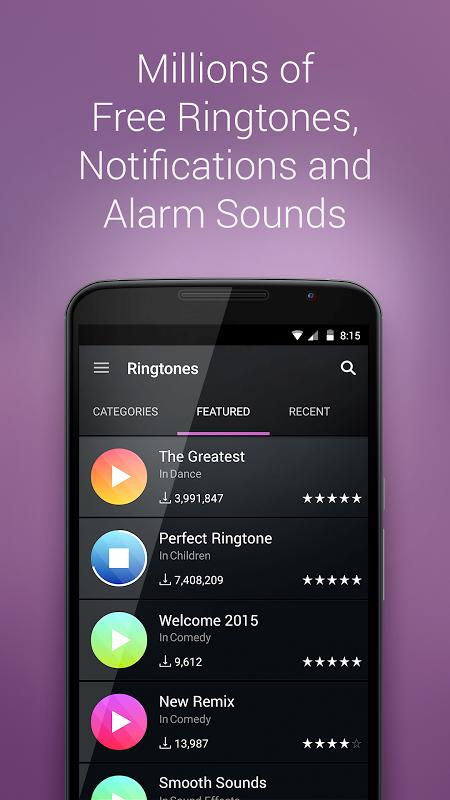 Android ZEDGEä‹¢ Ringtones & Wallpapers Screen 3