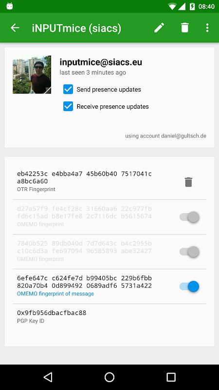 Android Conversations (Jabber / XMPP) Screen 5