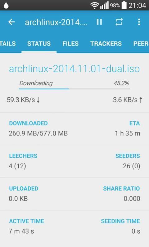 Flud - Torrent Downloader 1.4.9 Screen 2