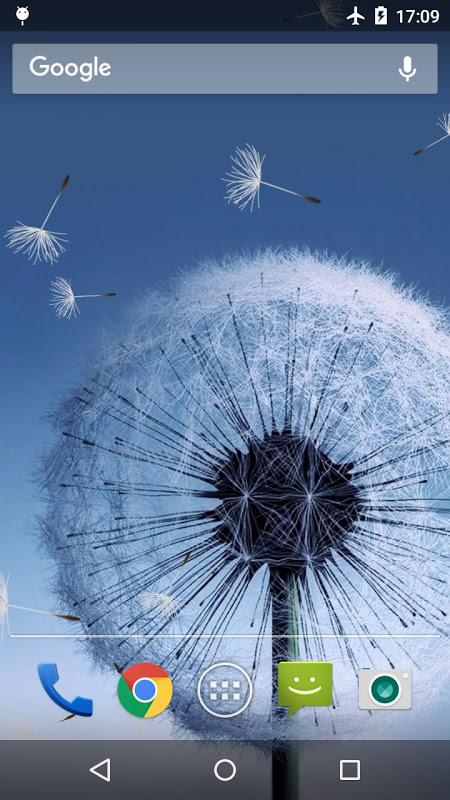 Android Dandelion Live Wallpaper Screen 2