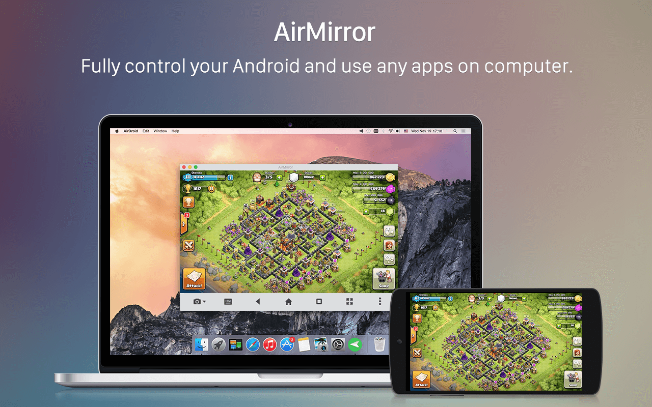 Android AirDroid: Remote access & File Screen 4