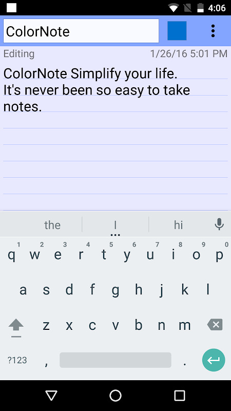 ColorNote Notepad Notes To do 4.0.7 Screen 2