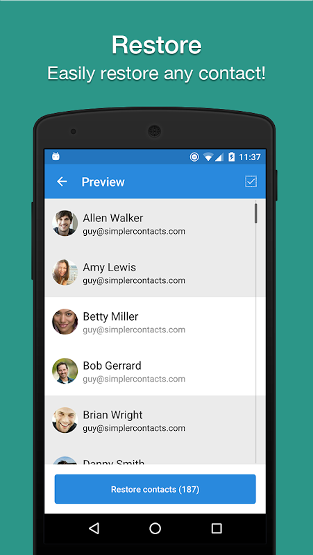 Easy Backup - Contacts Export and Restore 8.9.8 Screen 4