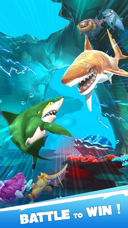 Android Hungry Shark Heroes Screen 1