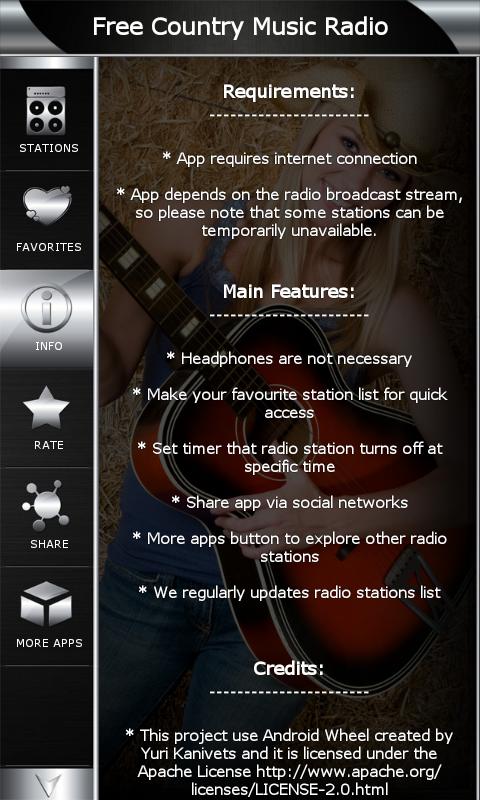 com.popularradiostations.freecountrymusic 1.8 Screen 5