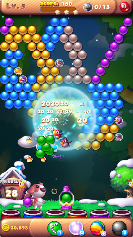 Android Bubble Bird Rescue 2 - Shoot! Screen 18