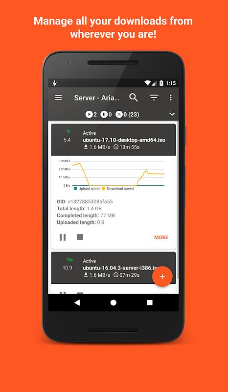 Aria2App (open source) 4.0.3 Screen 1