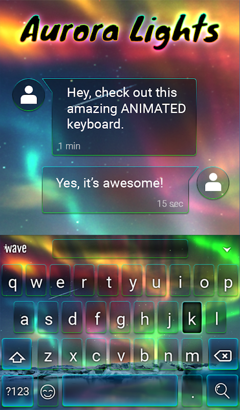 Android Aurora Light Animated Keyboard Screen 2
