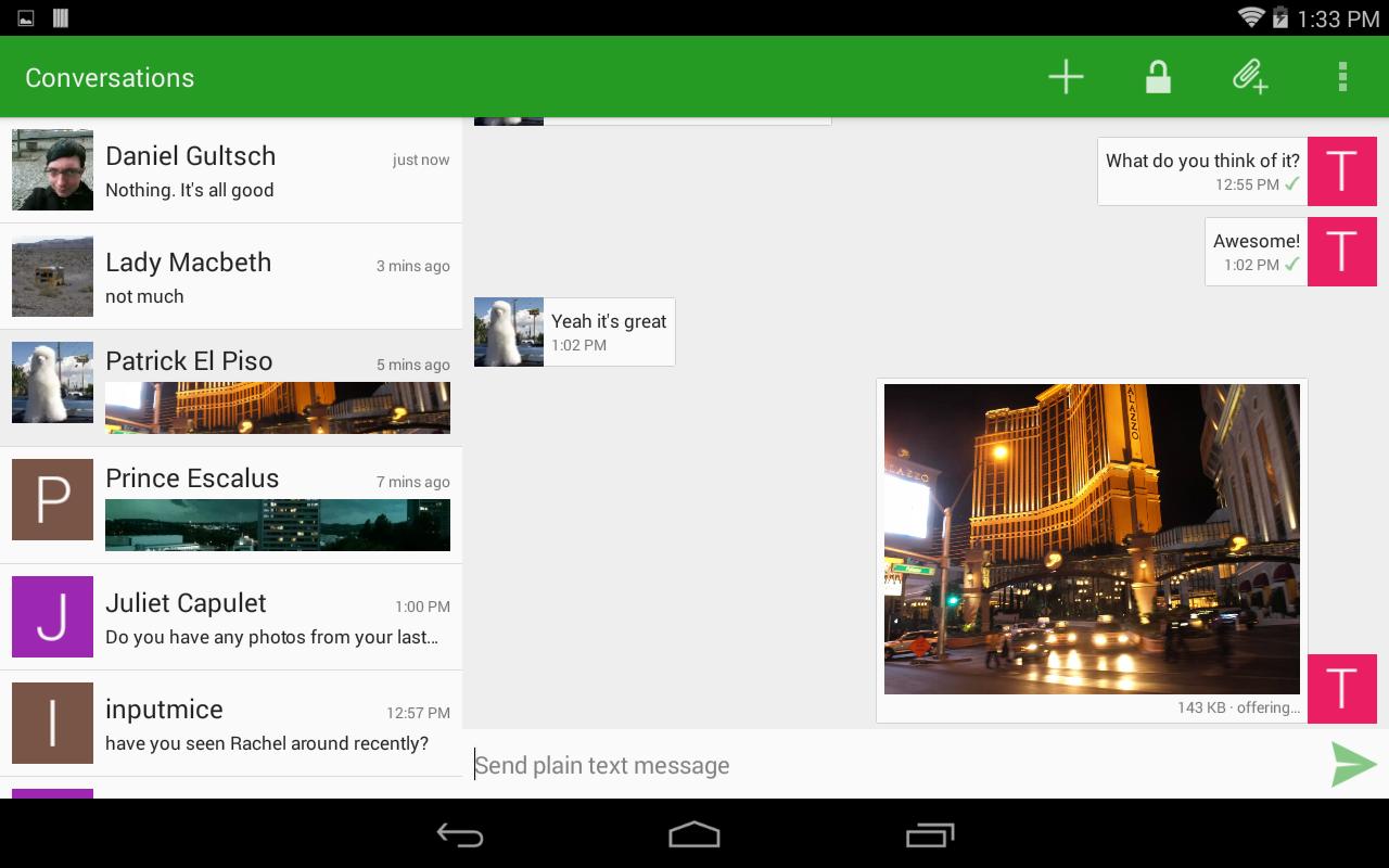 Android Conversations (Jabber / XMPP) Screen 1