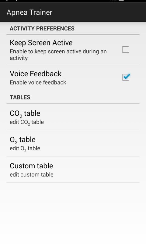 Android Apnea Trainer Screen 3