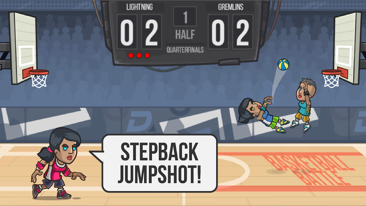 Android Basketball Battle Screen 2
