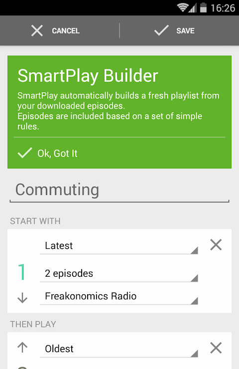 Android BeyondPod Podcast Manager Screen 5