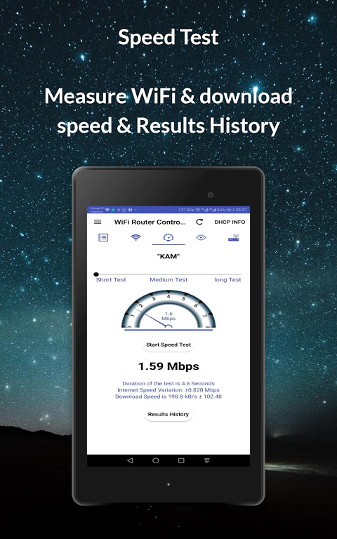 Router Admin Setup Control & Speed Test 9.41 Screen 11