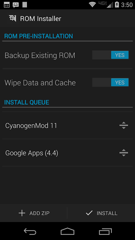 Android ROM Installer Screen 4
