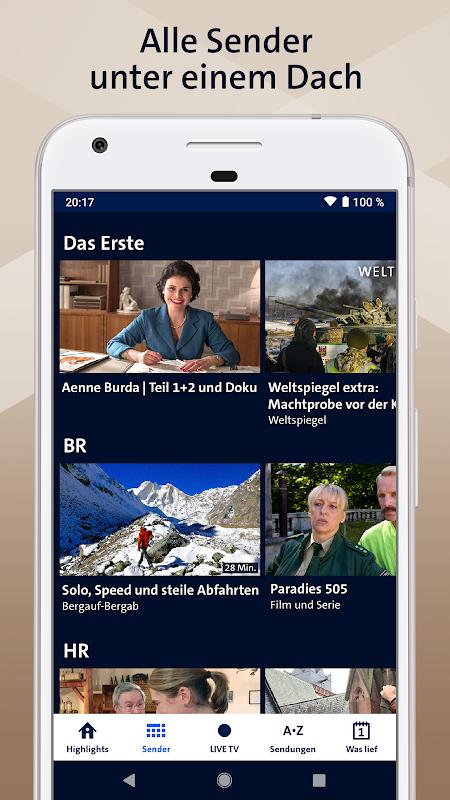 ARD Mediathek 7.6.0 Screen 1