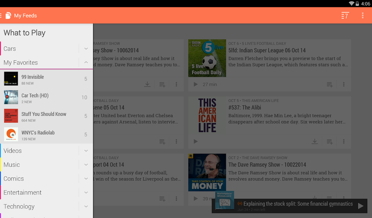 Android BeyondPod Podcast Manager Screen 11