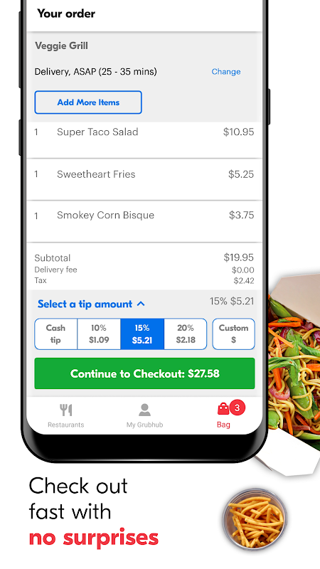 Grubhub: Local Food Delivery & Restaurant Takeout 7 31 APK