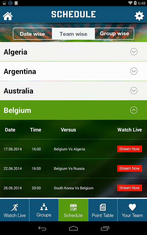Live Football World Cup 2014 1.0 Screen 6
