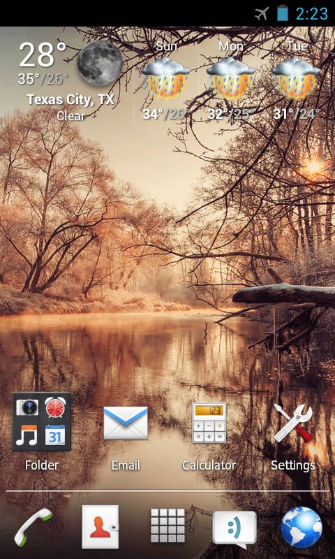 Android Xperia Apex/Nova Theme Screen 1