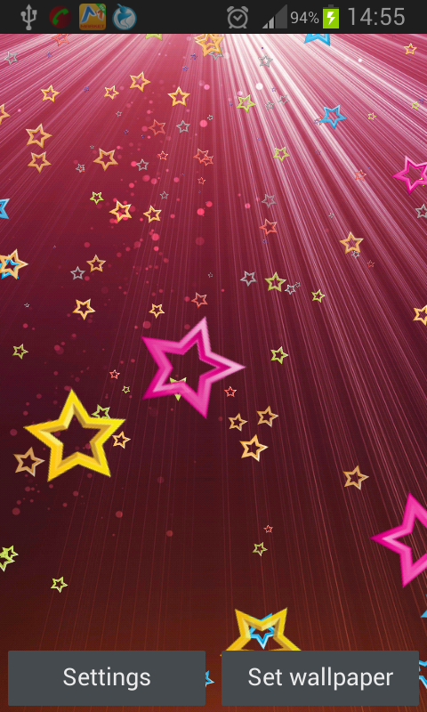 Android Stars Live Wallpaper Screen 6