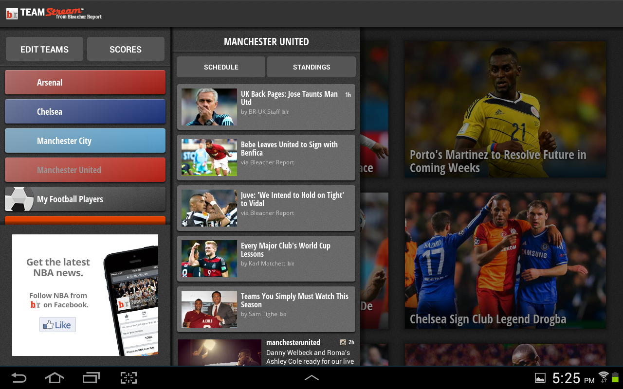 Android Bleacher Report Screen 1