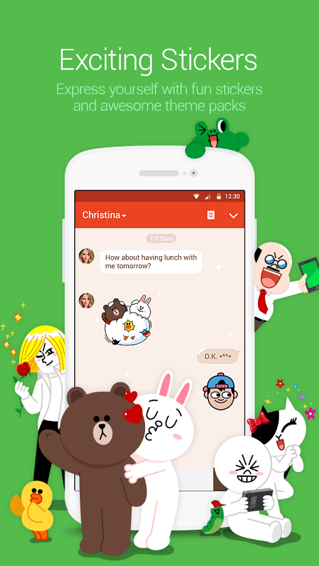 Android LINE: Free Calls & Messages Screen 1