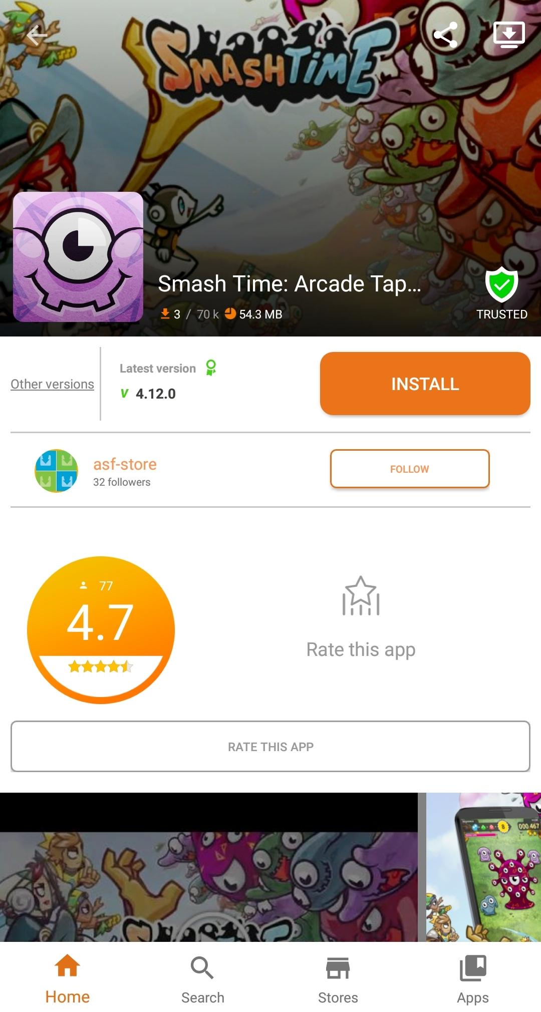 Android Aptoide DEV Screen 1