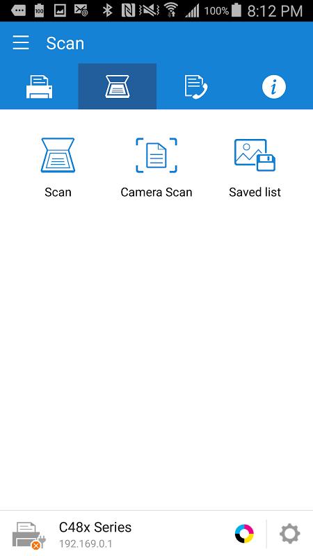 Samsung Mobile Print 4.07.011 Screen 1