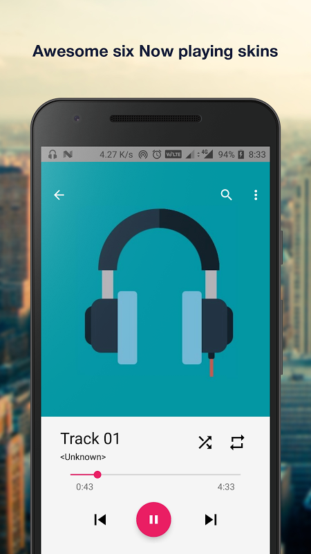 Android Music Player Pro+ Screen 1
