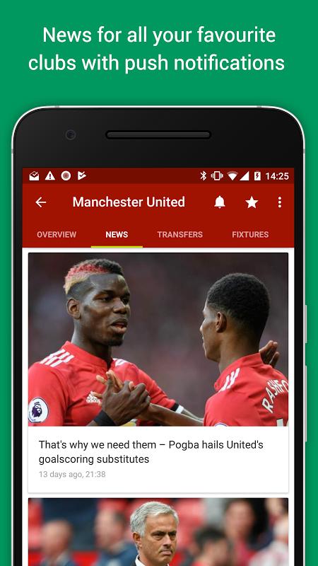 Android FotMob Screen 4
