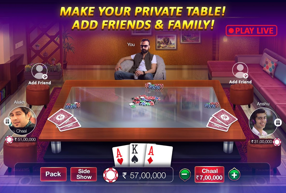 Android Teen Patti Gold - With Poker & Rummy Screen 4