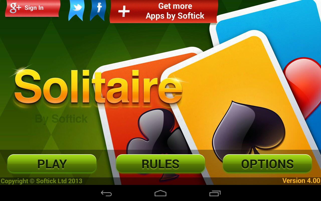 Solitaire 4.8.1391c Screen 1