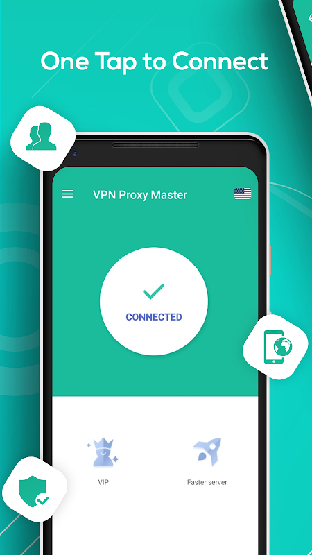 Android Free VPN & security unblock Proxy -Snap Master VPN Screen 2