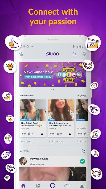 Android Swoo - Live Trivia and Bingo Screen 7