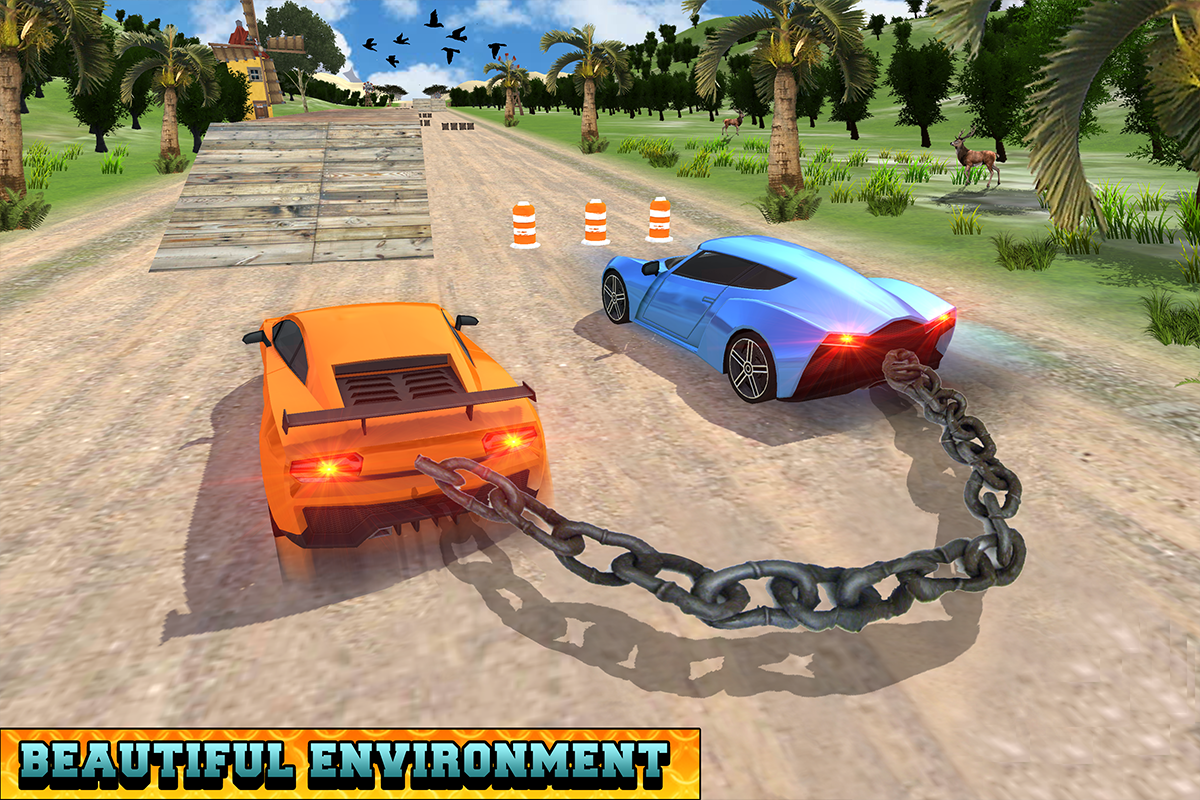 Android Chained Cars Racing Stunts Screen 4
