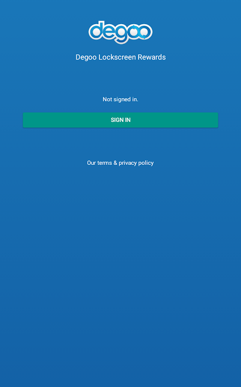 Android Degoo Lockscreen Cloud Storage Rewards Screen 11