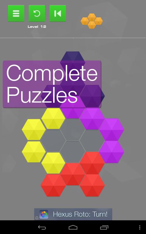 Hexus Puzzles 1.10 Screen 2